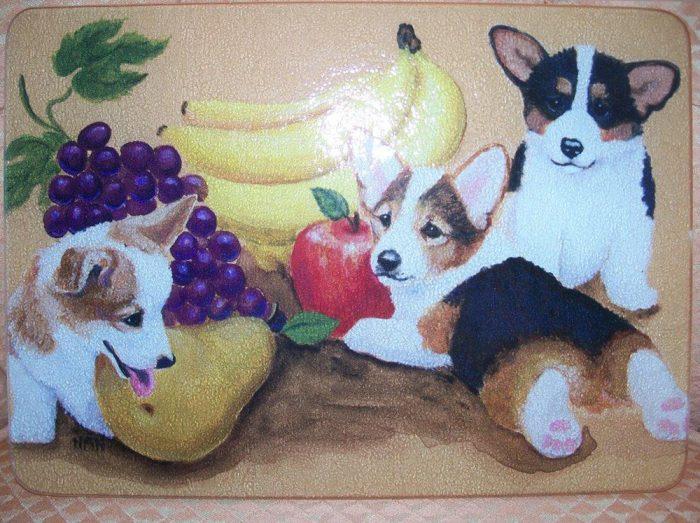 Corgi Fruit Cutting Board