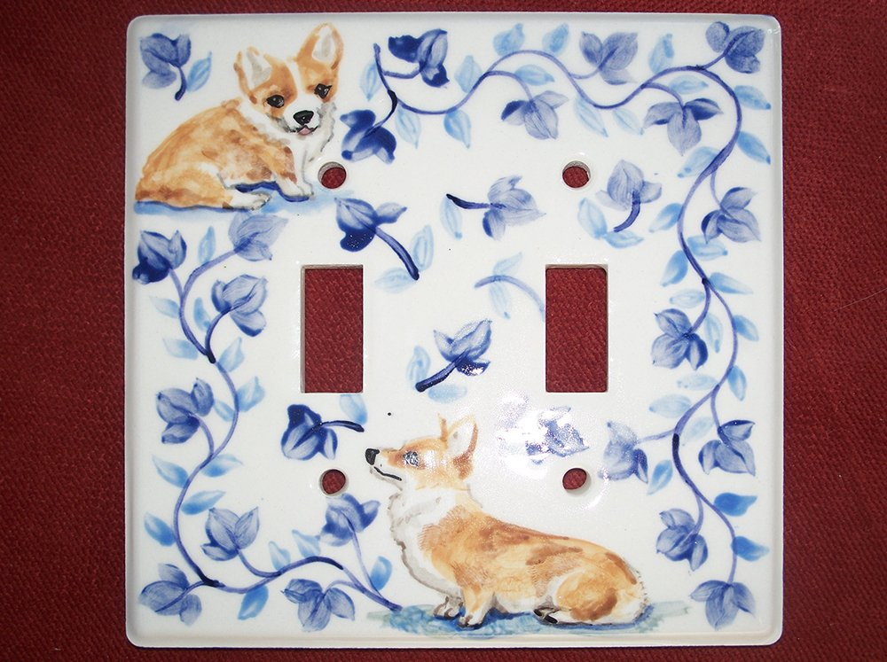 Sitting Corgi lightswitch cover