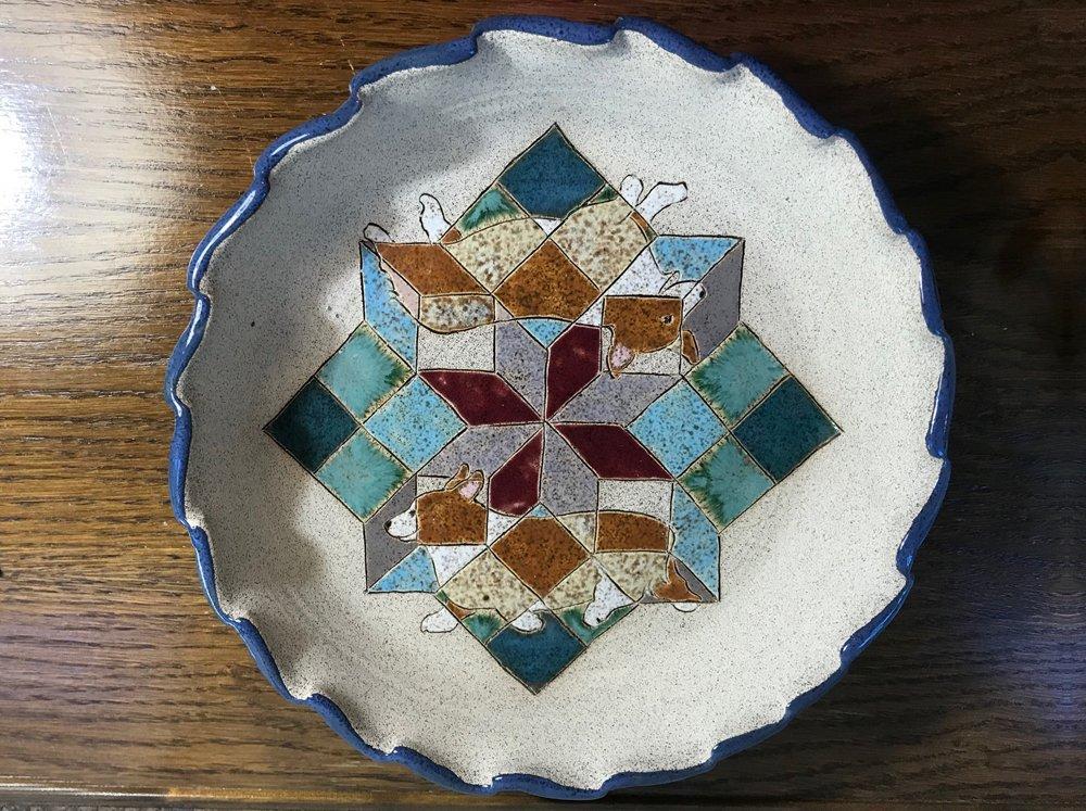 Corgi Pie Plate