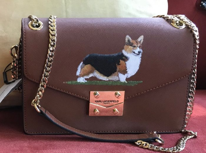 Karl Lagerfeld brown handbag