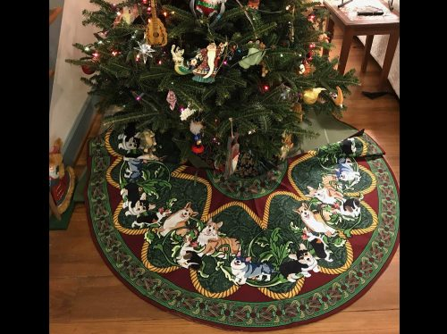 Christmas Tree Skirt under the tree