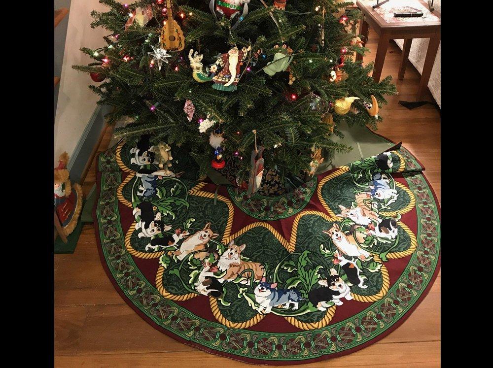 Christmas Tree Skirt under the tree
